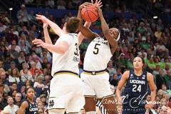 NCAA Women's Basketball FInal Four National Semi-Finals - Notre Dame 81 vs UConn 76 (104)