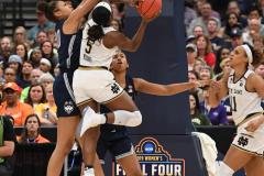 NCAA Women's Basketball FInal Four National Semi-Finals - Notre Dame 81 vs UConn 76 (109)