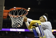 Gallery NCAA Womens Basketball - Final Four Celebration - Notre Dame Trophy Presentation & Net Cutting