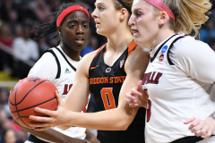 NCAA Women's Basketball Sweet Sixteen - #1 Louisville 61 vs. #4 Oregon St 44 (19)