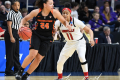 NCAA Women's Basketball Sweet Sixteen - #1 Louisville 61 vs. #4 Oregon St 44 (21)
