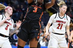 NCAA Women's Basketball Sweet Sixteen - #1 Louisville 61 vs. #4 Oregon St 44 (48)