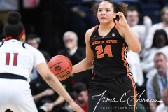 NCAA Women's Basketball Sweet Sixteen - #1 Louisville 61 vs. #4 Oregon St 44 (63)