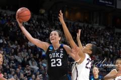 NCAA Women's Basketball Sweet Sixteen - #1 UConn 72 vs. #5 Duke 59 (104)