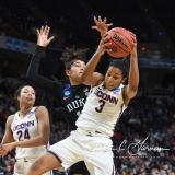 NCAA Women's Basketball Sweet Sixteen - #1 UConn 72 vs. #5 Duke 59 (133)