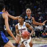 NCAA Women's Basketball Sweet Sixteen - #1 UConn 72 vs. #5 Duke 59 (50)