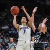 NCAA Women's Basketball Sweet Sixteen - #1 UConn 72 vs. #5 Duke 59 (60)