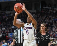 NCAA Women's Basketball Sweet Sixteen - #1 UConn 72 vs. #5 Duke 59 (63)