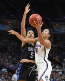 NCAA Women's Basketball Sweet Sixteen - #1 UConn 72 vs. #5 Duke 59 (77)