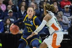 NCAA Women's Basketball 1st Round - #8 Miami 72 vs. #9 Quinnipiac 86 (23)