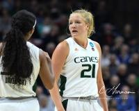 NCAA Women's Basketball 1st Round - #8 Miami 72 vs. #9 Quinnipiac 86 (33)