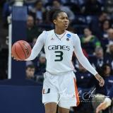 NCAA Women's Basketball 1st Round - #8 Miami 72 vs. #9 Quinnipiac 86 (65)