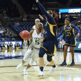 NCAA Women's Basketball 1st Round - #8 Miami 72 vs. #9 Quinnipiac 86 (68)