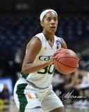 NCAA Women's Basketball 1st Round - #8 Miami 72 vs. #9 Quinnipiac 86 (73)