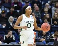 NCAA Women's Basketball 1st Round - #8 Miami 72 vs. #9 Quinnipiac 86 (77)