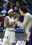 NCAA Women's Basketball 1st Round - #8 Miami 72 vs. #9 Quinnipiac 86 (78)