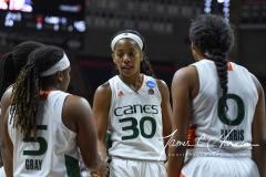 NCAA Women's Basketball 1st Round - #8 Miami 72 vs. #9 Quinnipiac 86 (81)