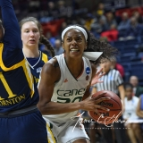 NCAA Women's Basketball 1st Round - #8 Miami 72 vs. #9 Quinnipiac 86 (83)