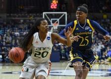 NCAA Women's Basketball 1st Round - #8 Miami 72 vs. #9 Quinnipiac 86 (86)