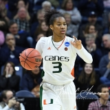NCAA Women's Basketball 1st Round - #8 Miami 72 vs. #9 Quinnipiac 86 (88)