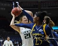 NCAA Women's Basketball 1st Round - #8 Miami 72 vs. #9 Quinnipiac 86 (92)