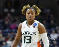NCAA Women's Basketball 1st Round - #8 Miami 72 vs. #9 Quinnipiac 86 (96)