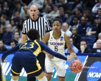 NCAA Women's Basketball Tournament 2nd Round - #1 UConn 71 vs. #9 Quinnipiac 46 (53)