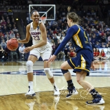 NCAA Women's Basketball Tournament 2nd Round - #1 UConn 71 vs. #9 Quinnipiac 46 (54)
