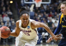 NCAA Women's Basketball Tournament 2nd Round - #1 UConn 71 vs. #9 Quinnipiac 46 (84)