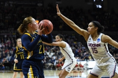 NCAA Women's Basketball Tournament 2nd Round - #1 UConn 71 vs. #9 Quinnipiac 46 (98)