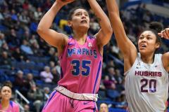 NCAA Women's Basketball - UConn Huskies 102 vs. Memphis Tigers 45 (117)