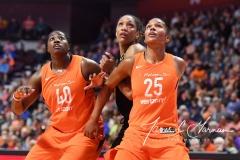 WNBA Connecticut Sun 101 vs. Las Vegas Aces 65 (35)