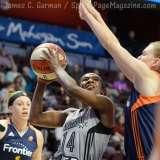 WNBA CT Sun 76 vs. San Antonio Stars 53 (70)