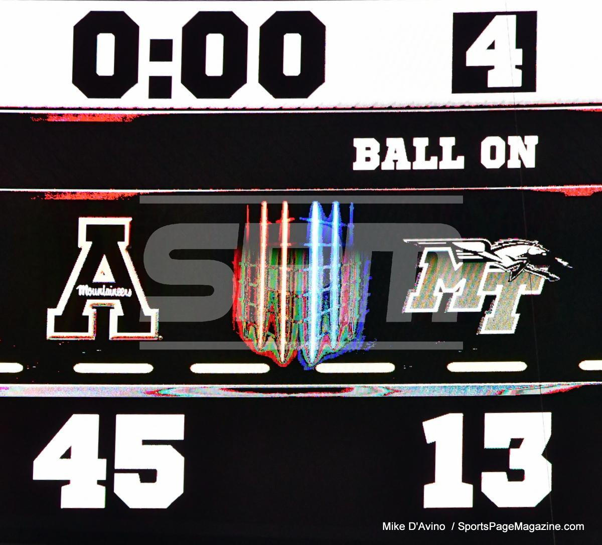 NCAA Football; Appalachian State 43 vs. Middle Tennessee 13 - Photo # (390)