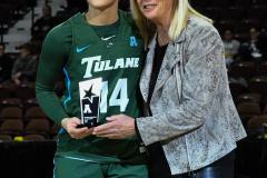 NCAA Women's Basketball AAC 1st Round - #5 USF 61 vs. #12 Tulane 52 (12)
