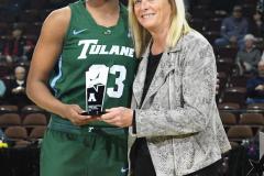 NCAA Women's Basketball AAC 1st Round - #5 USF 61 vs. #12 Tulane 52 (13)