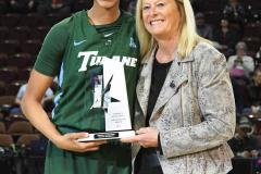 NCAA Women's Basketball AAC 1st Round - #5 USF 61 vs. #12 Tulane 52 (14)