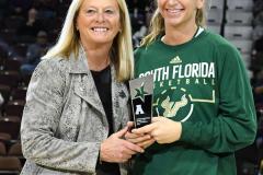NCAA Women's Basketball AAC 1st Round - #5 USF 61 vs. #12 Tulane 52 (17)