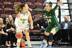 NCAA Women's Basketball AAC 1st Round - #5 USF 61 vs. #12 Tulane 52 (19)