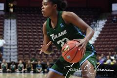 NCAA Women's Basketball AAC 1st Round - #5 USF 61 vs. #12 Tulane 52 (26)