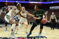 NCAA Women's Basketball AAC 1st Round - #5 USF 61 vs. #12 Tulane 52 (36)