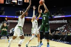 NCAA Women's Basketball AAC 1st Round - #5 USF 61 vs. #12 Tulane 52 (37)