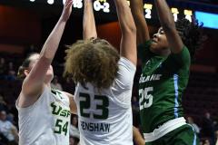 NCAA Women's Basketball AAC 1st Round - #5 USF 61 vs. #12 Tulane 52 (45)
