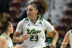 NCAA Women's Basketball AAC 1st Round - #5 USF 61 vs. #12 Tulane 52 (51)