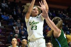 NCAA Women's Basketball AAC 1st Round - #5 USF 61 vs. #12 Tulane 52 (62)