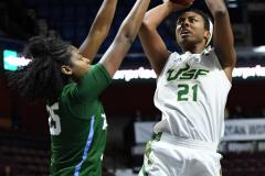 NCAA Women's Basketball AAC 1st Round - #5 USF 61 vs. #12 Tulane 52 (63)