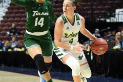 NCAA Women's Basketball AAC 1st Round - #5 USF 61 vs. #12 Tulane 52 (64)