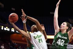 NCAA Women's Basketball AAC 1st Round - #5 USF 61 vs. #12 Tulane 52 (72)