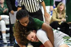 NCAA Women's Basketball AAC 1st Round - #5 USF 61 vs. #12 Tulane 52 (76)