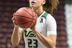 NCAA Women's Basketball AAC 1st Round - #5 USF 61 vs. #12 Tulane 52 (79)